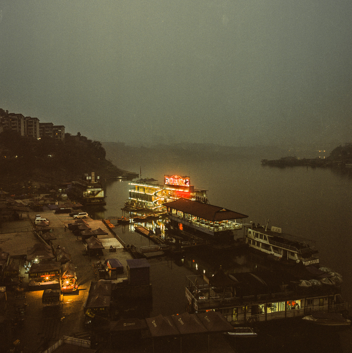 Restaurant on Jia Ling river