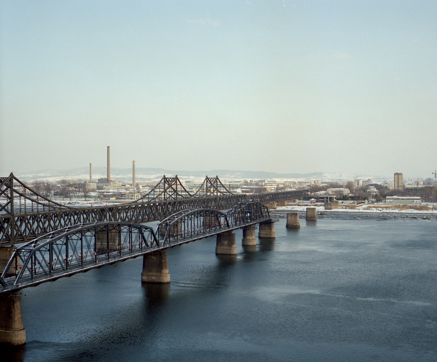 North Korea from the city of Dandong