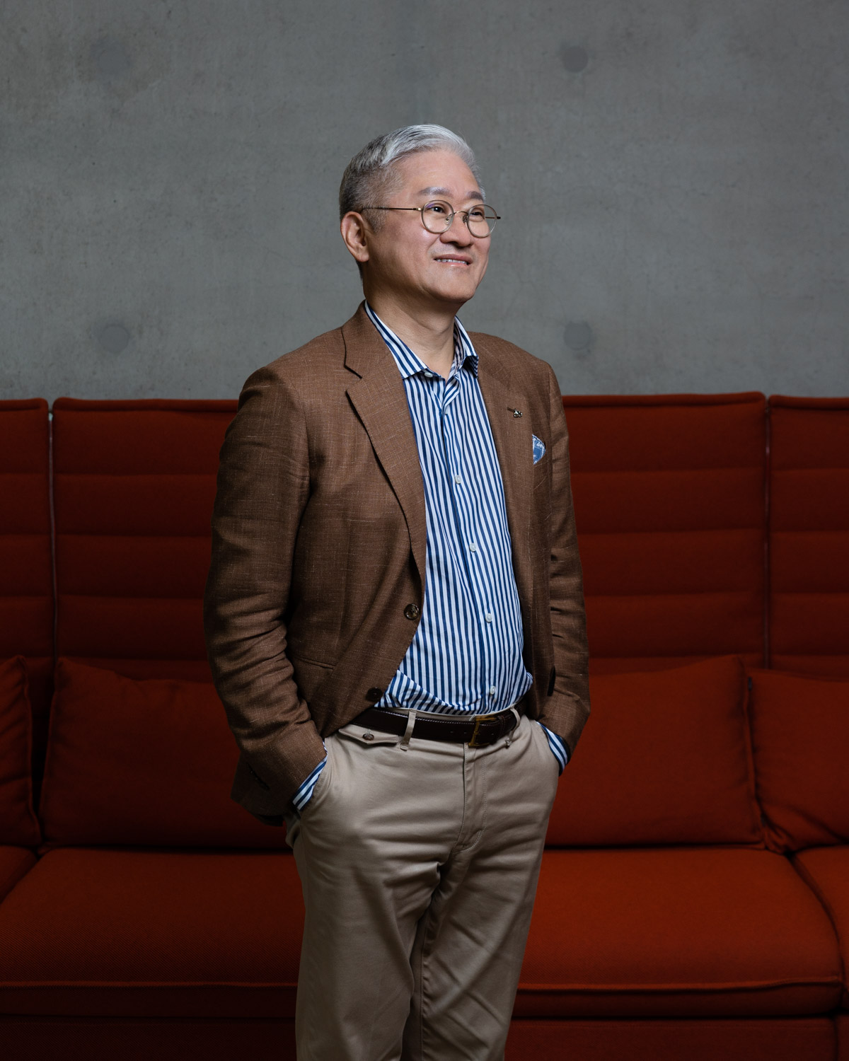 Suh Kyung-bae, CEO of Amore Pacific posing in his headquarter.