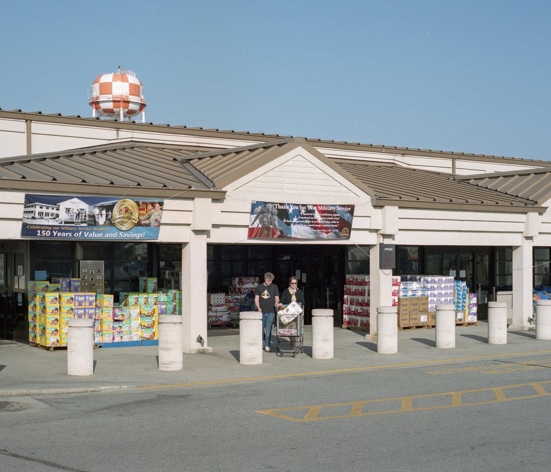 A market inside the american miliatary base Camp Humphrey in South Korea.