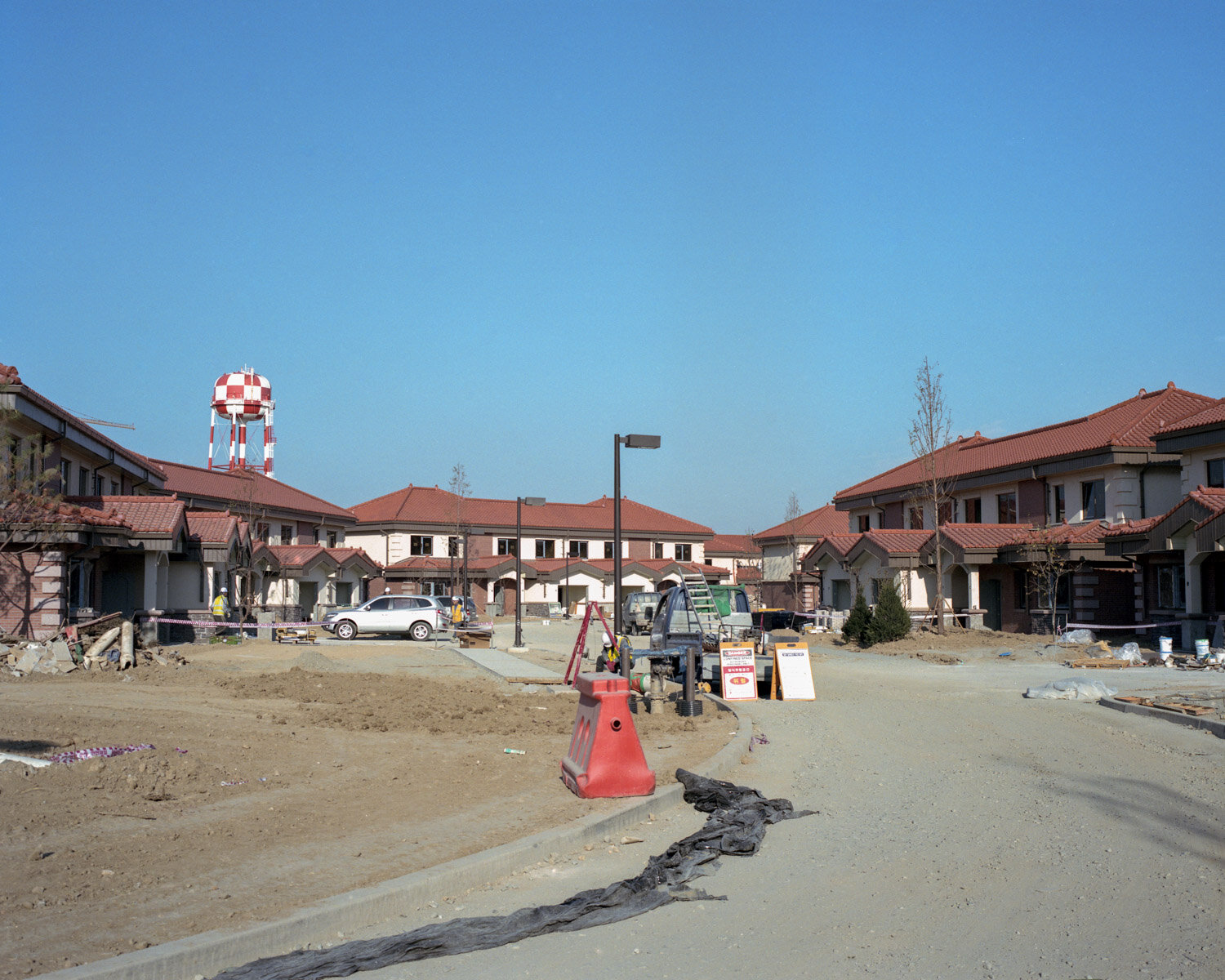Construction of new villas inside Camp humphrey, the newly build american military base in South Korea.