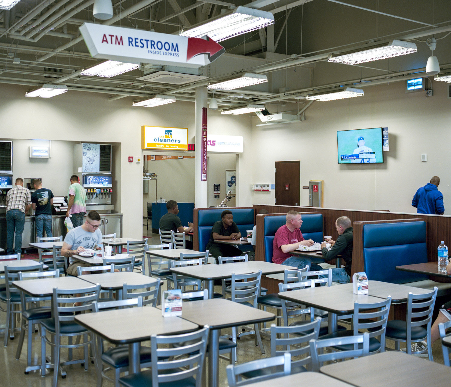 Like in every american city, a fast food inside the Camp Humphrey american military base in South Korea.