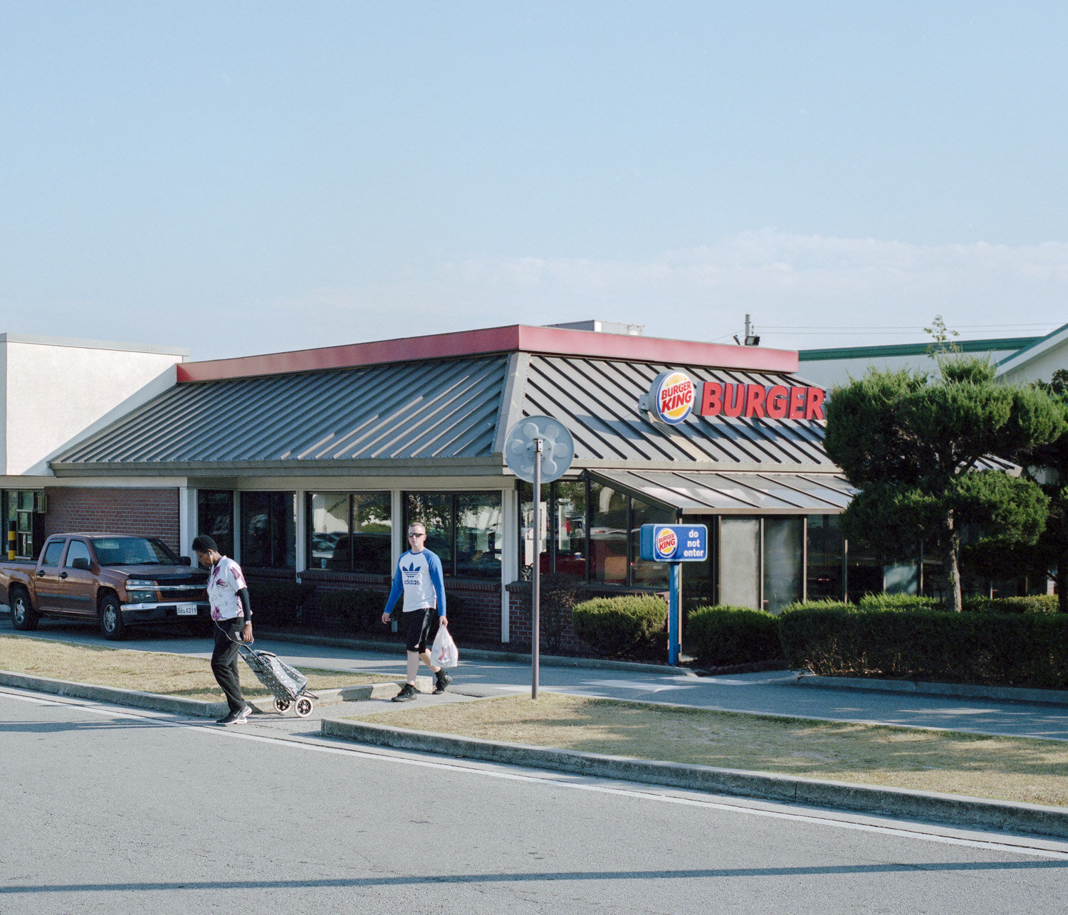A burger king inside the biggest american military base in South Korea.