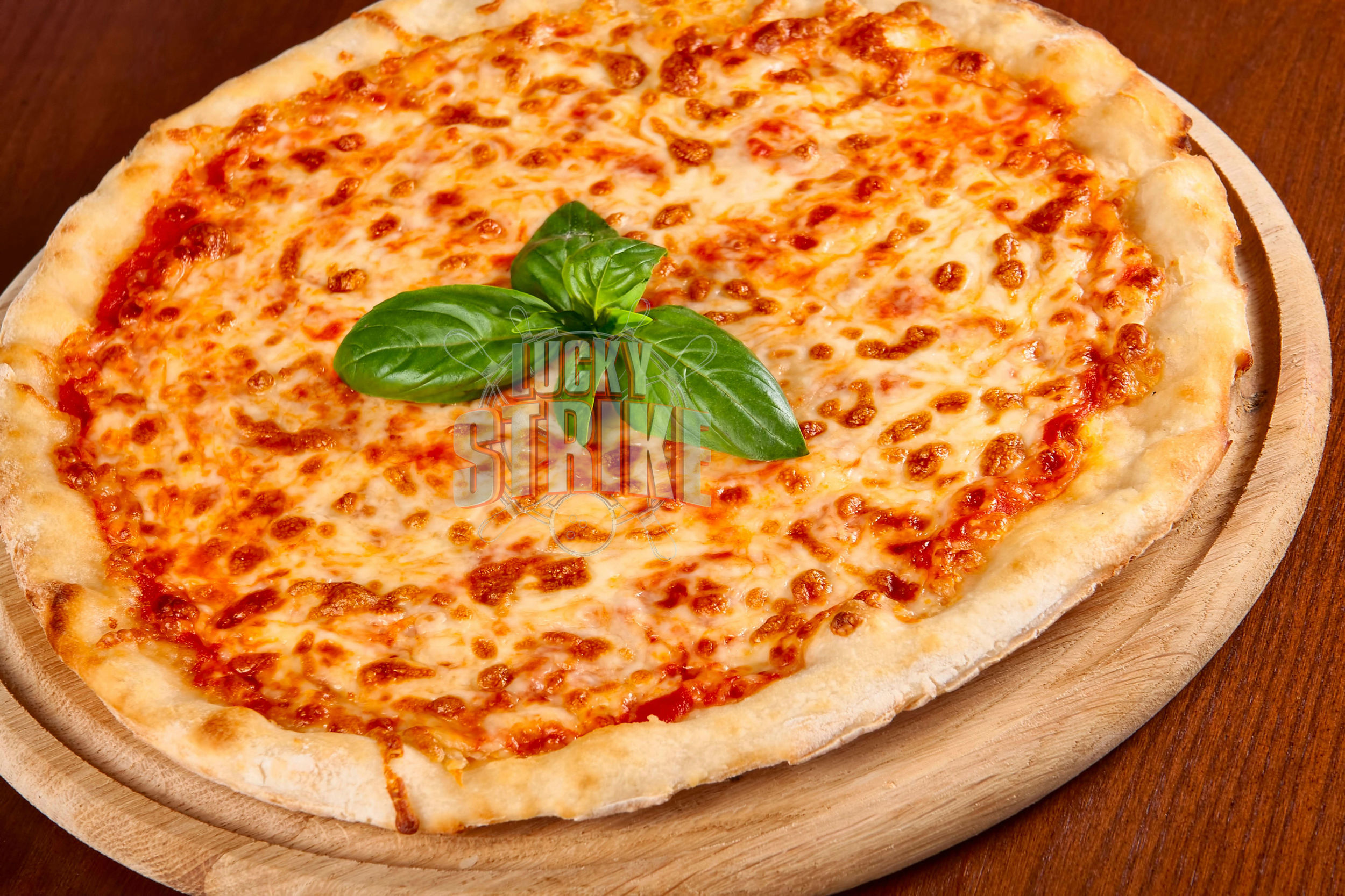 MARGHERITA PIZZA                                                 35/49    Freshly homemade dough loaded with   melted mozzarella cheese & I  talian sauce