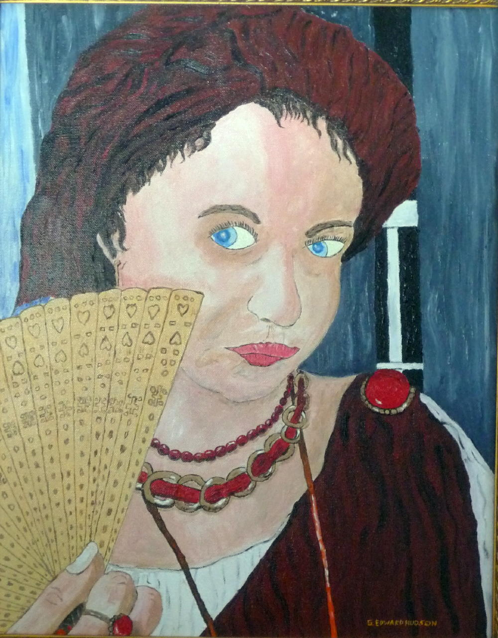 The Girl in the Red Turban 16 x 20 inches oil on canvas 2014.JPG