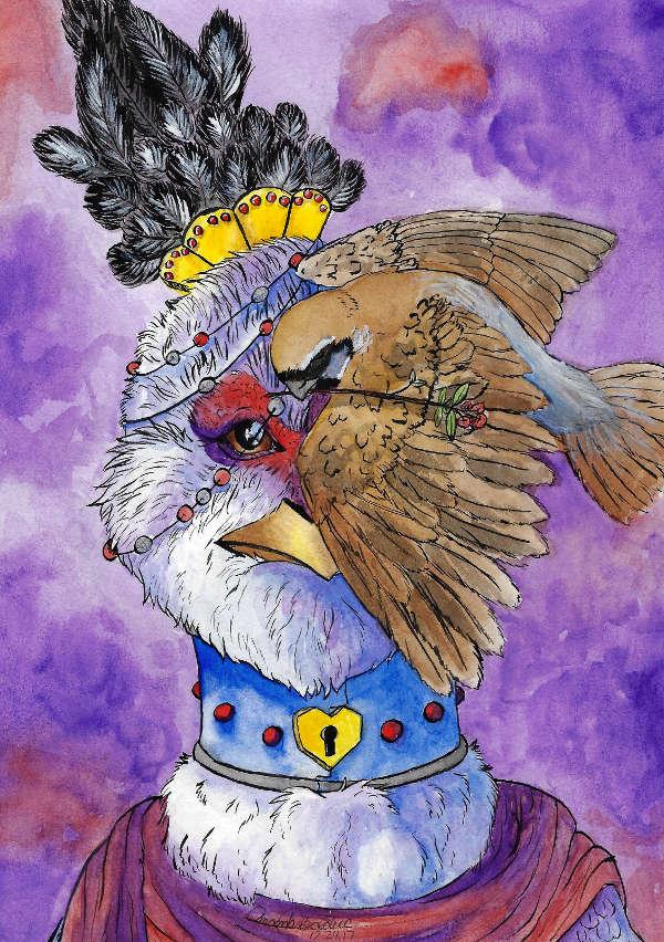 Hen and Sparrow.jpg