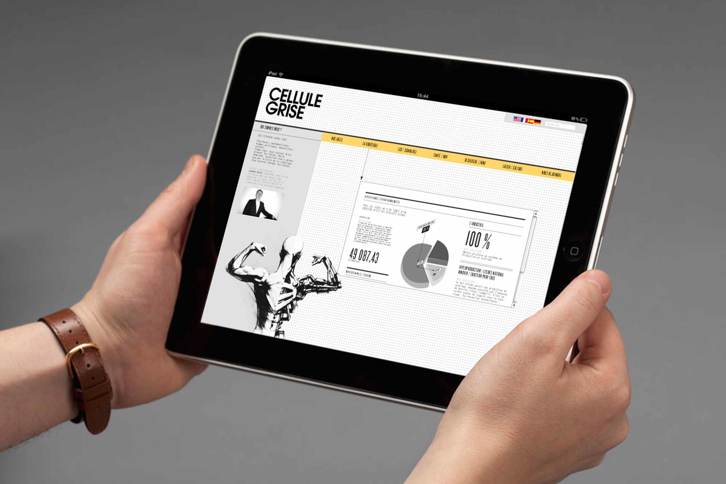 Application iPad de La Cellule Grise, un nouveau parti politique - www.marionchibrard.com