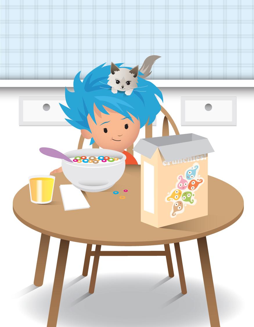 tadpole cereal box.