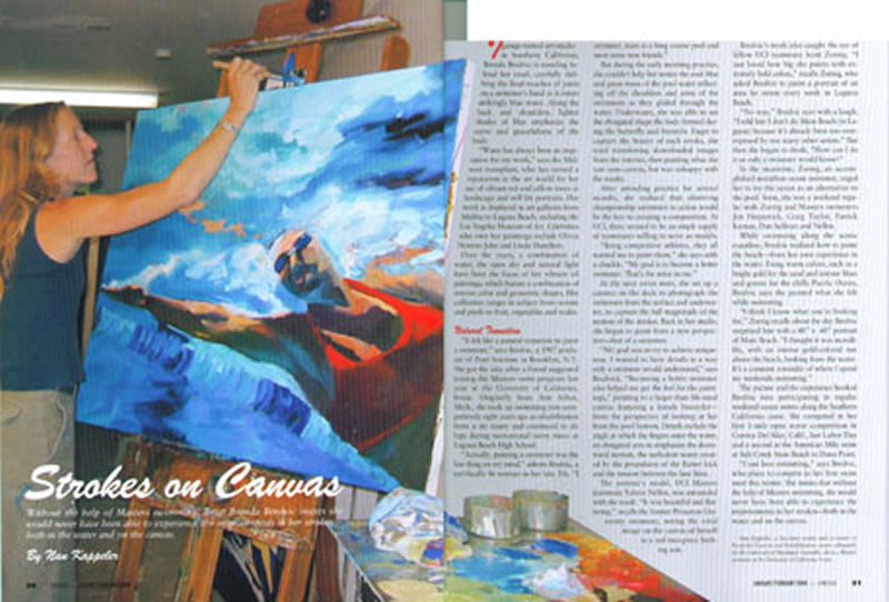 Layout from SWIM magazine, 2004.