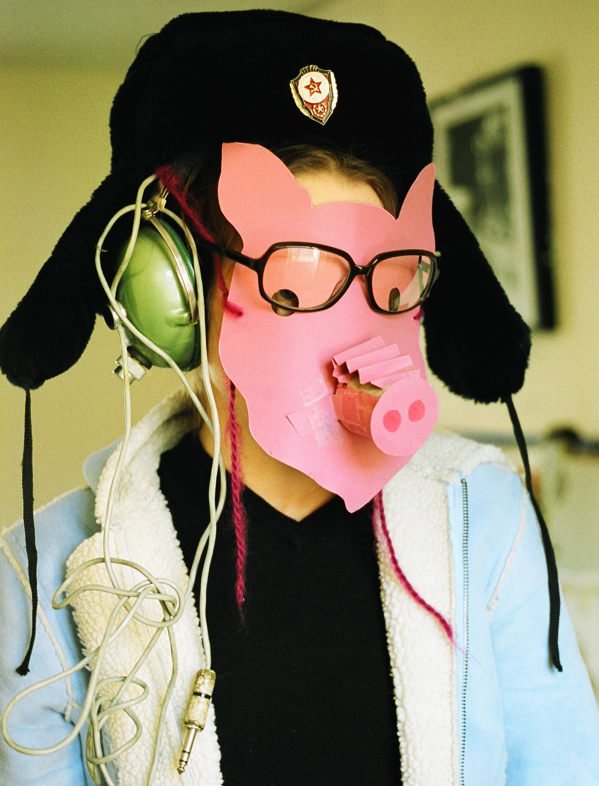 A previous incarnation - Pig Masks crafted with artists Andrew Jones and Holly De Las Casas inn summer 2003.