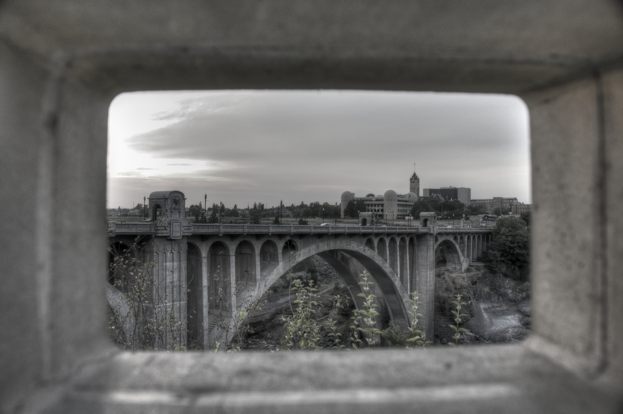 Looking Through to Monroe Street Bridge