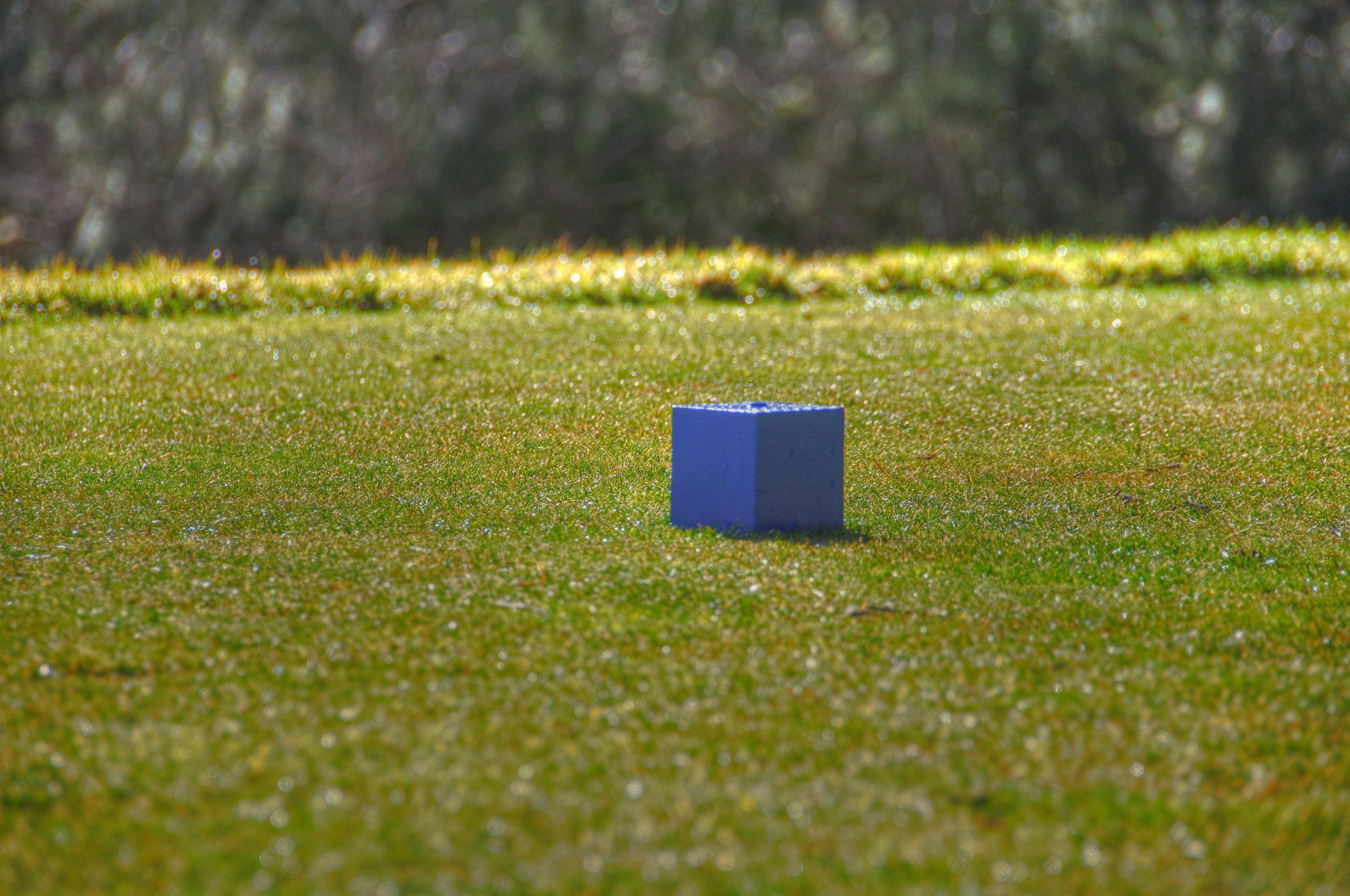 blue golf cube