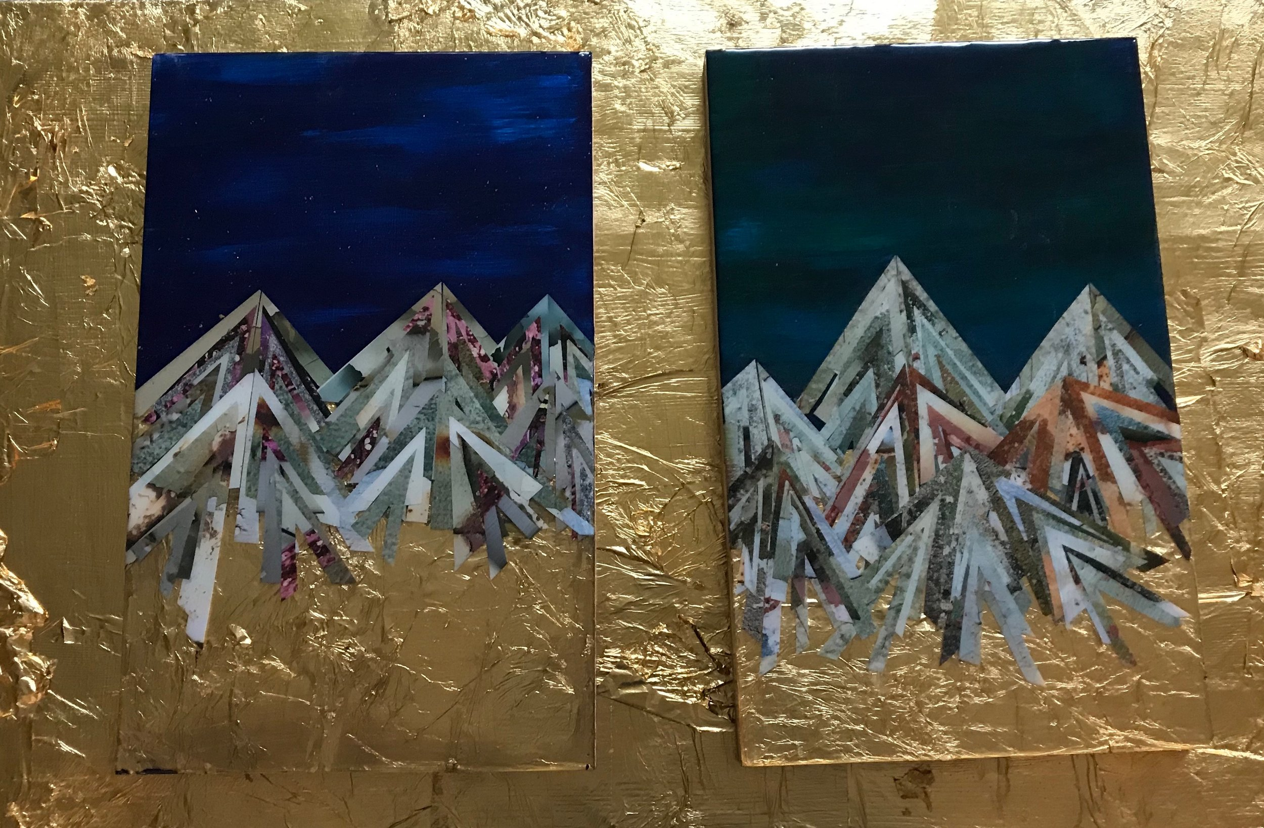 A Twin Set of Golden Mountainscapes 2019