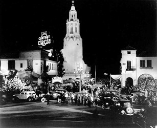 The original Carthay Circle Theater, gone, but revived at Disney's California Adventure