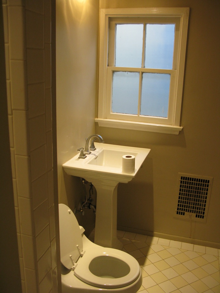 2nd Bathroom with stall shower, off hallway