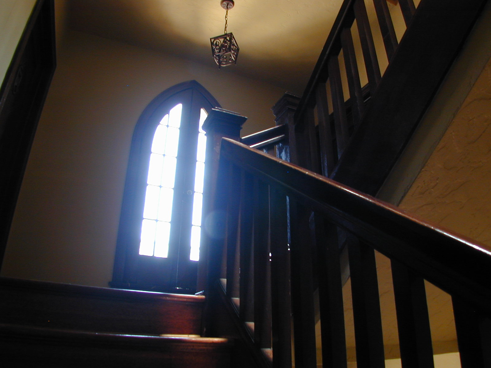 > The Gothic entry stairway