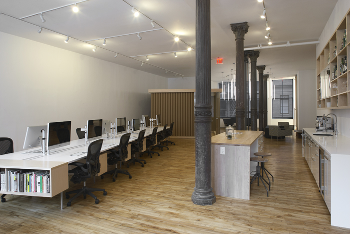 SoHo New York Office by Magdalena Keck Interior Design. Bostudio acted as Architect of Record. Photographs by Jeff Kate.