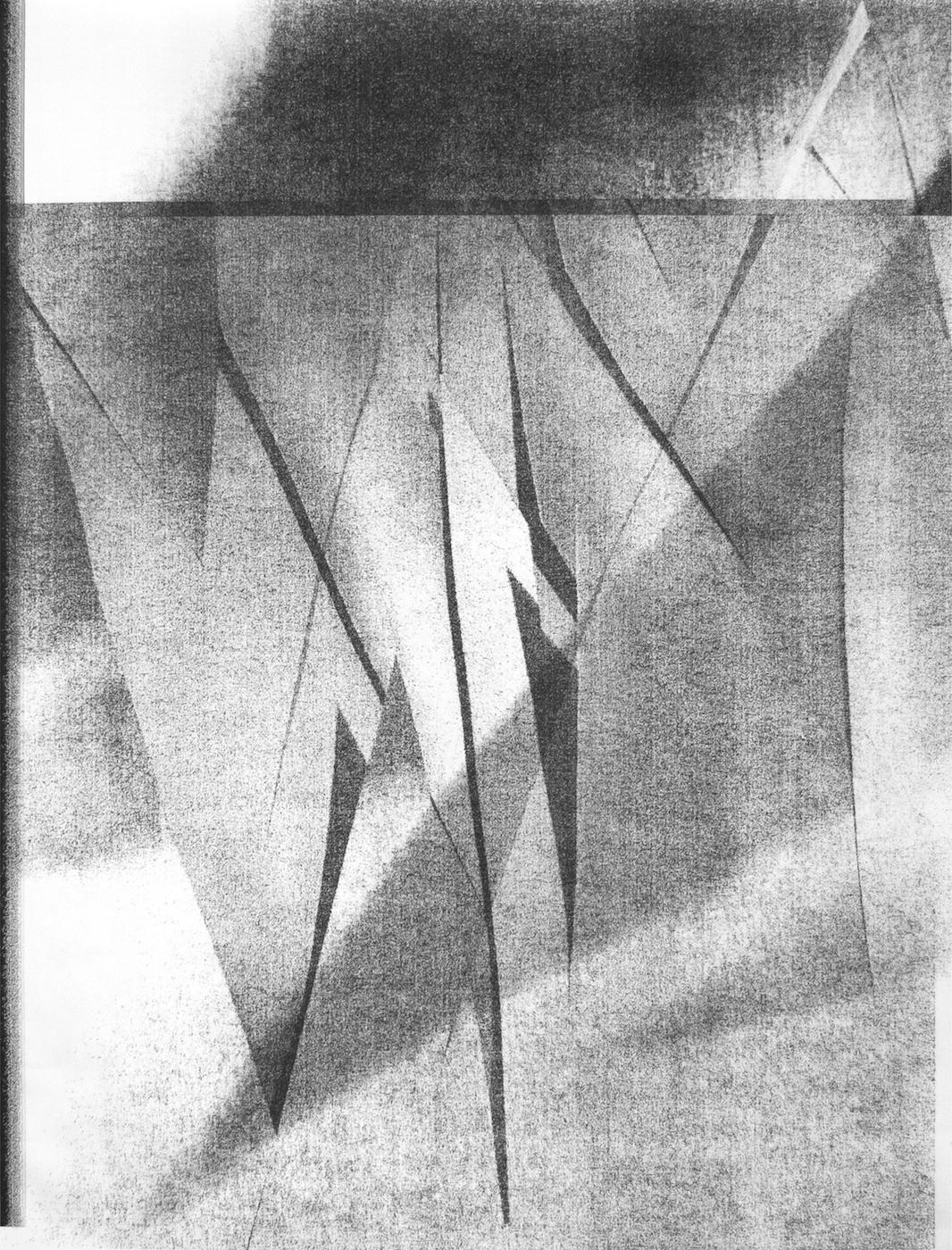 Ghost , 2014  multi-layer inkjet print on matte paper (unique)  56.25 x 42, 143 x 107 cm