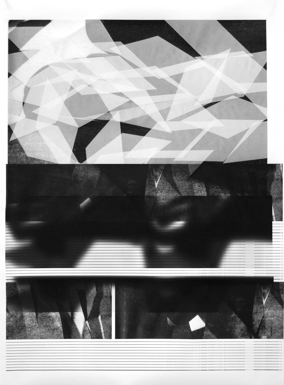 Picture Planes , 2014  multi-layer inkjet print on matte paper (unique)  55 x 44 inches, 140cm x 112 cm