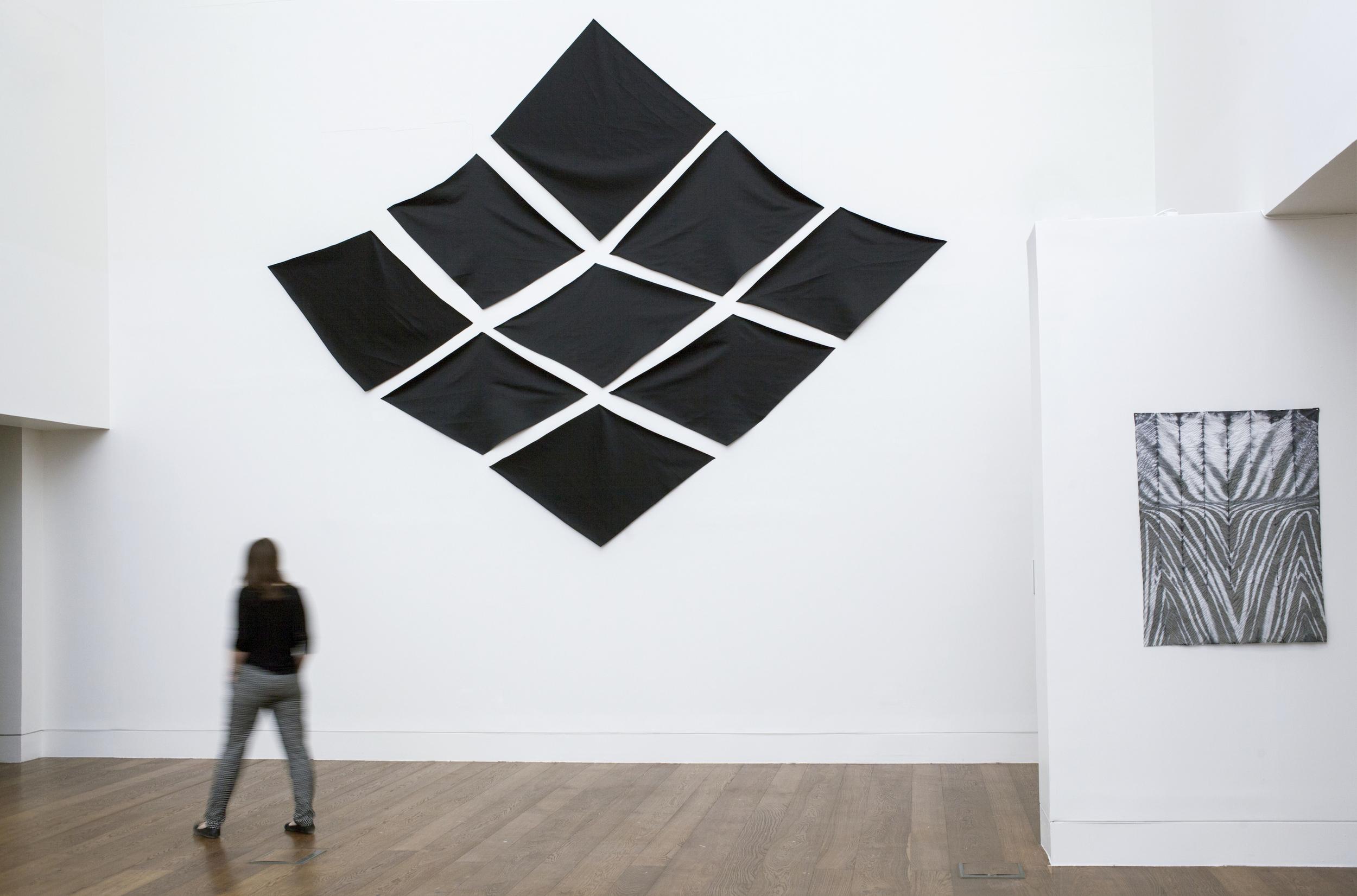 Facade , 2015  fabric on wall  15 x 20 feet
