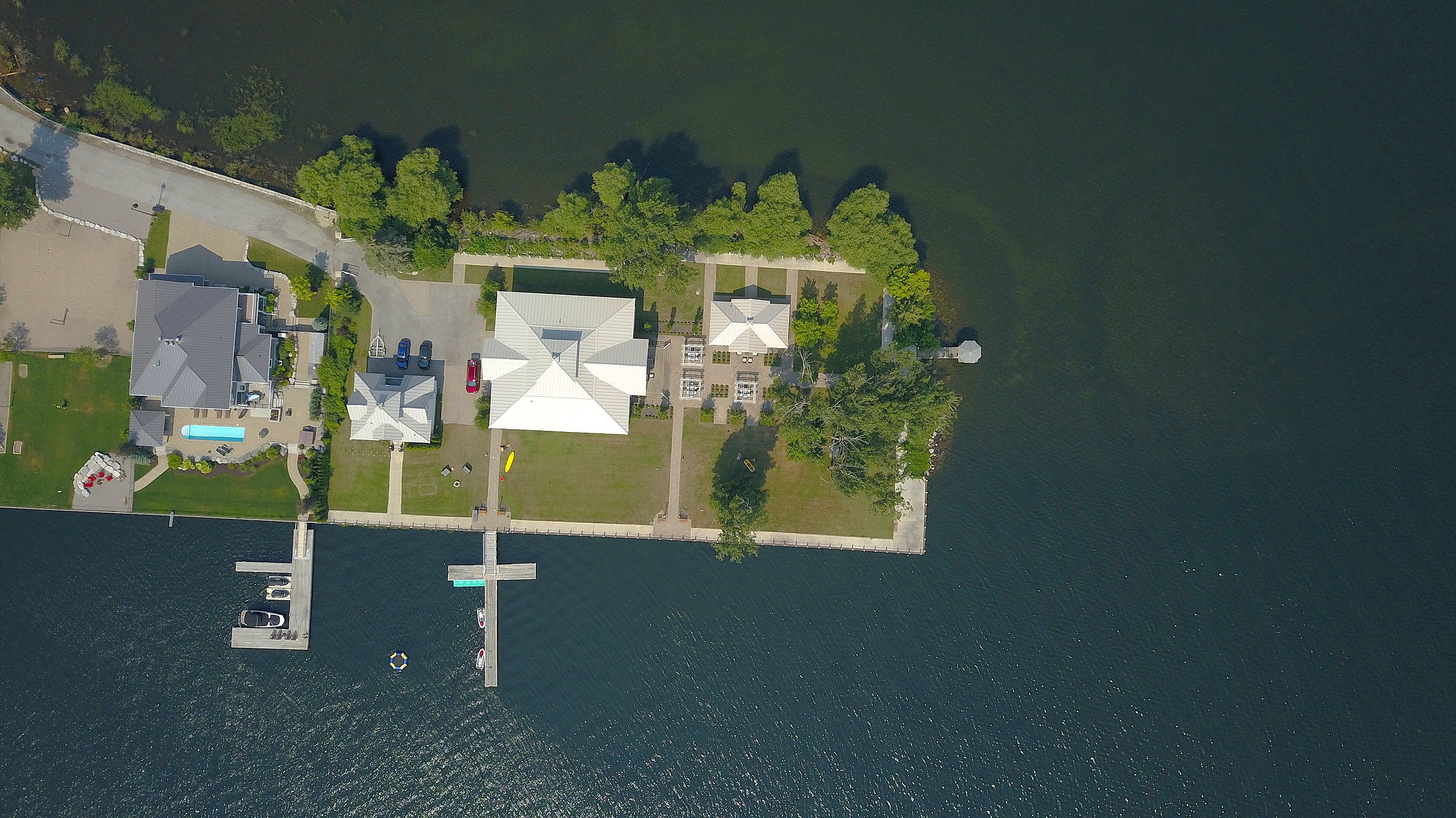 What the cottage looks like from above!