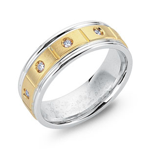 Two-Tone White & Yellow Gold