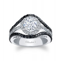 Black Diamond Engagement Ring - 7941LBKW