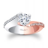 White & Rose Gold Engagement Ring - 7928LTW