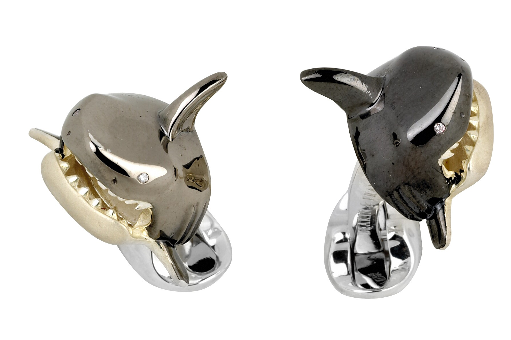Large Shark Head Cufflinks