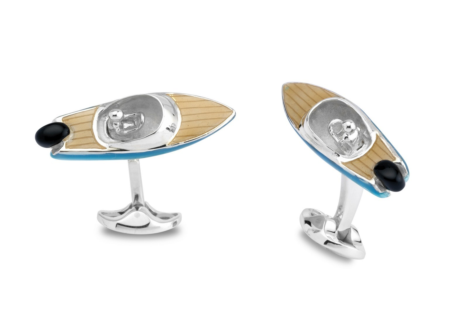 Silver Speed Boat Cufflinks