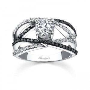 Black Diamond Engagement Ring - 7640LBKW