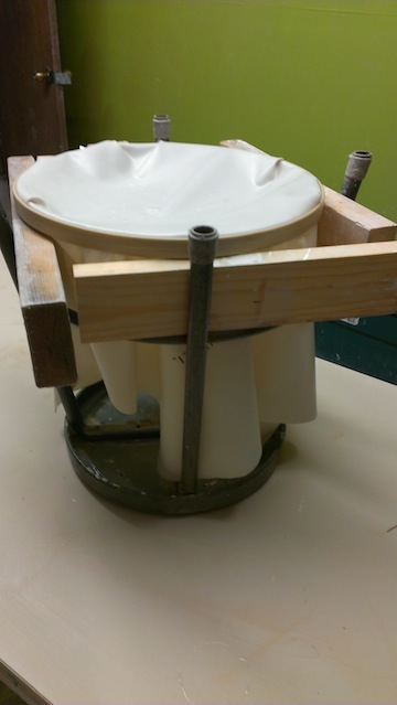 latex set-up before the plaster was cast. (next image is a different latex)