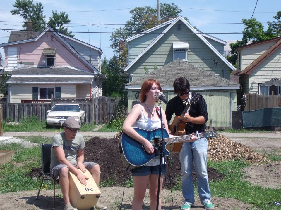 Performing with Kain Brown and Matt Cousineau
