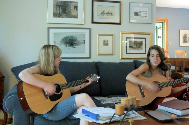 Jamming with my cousin Megan Giffen