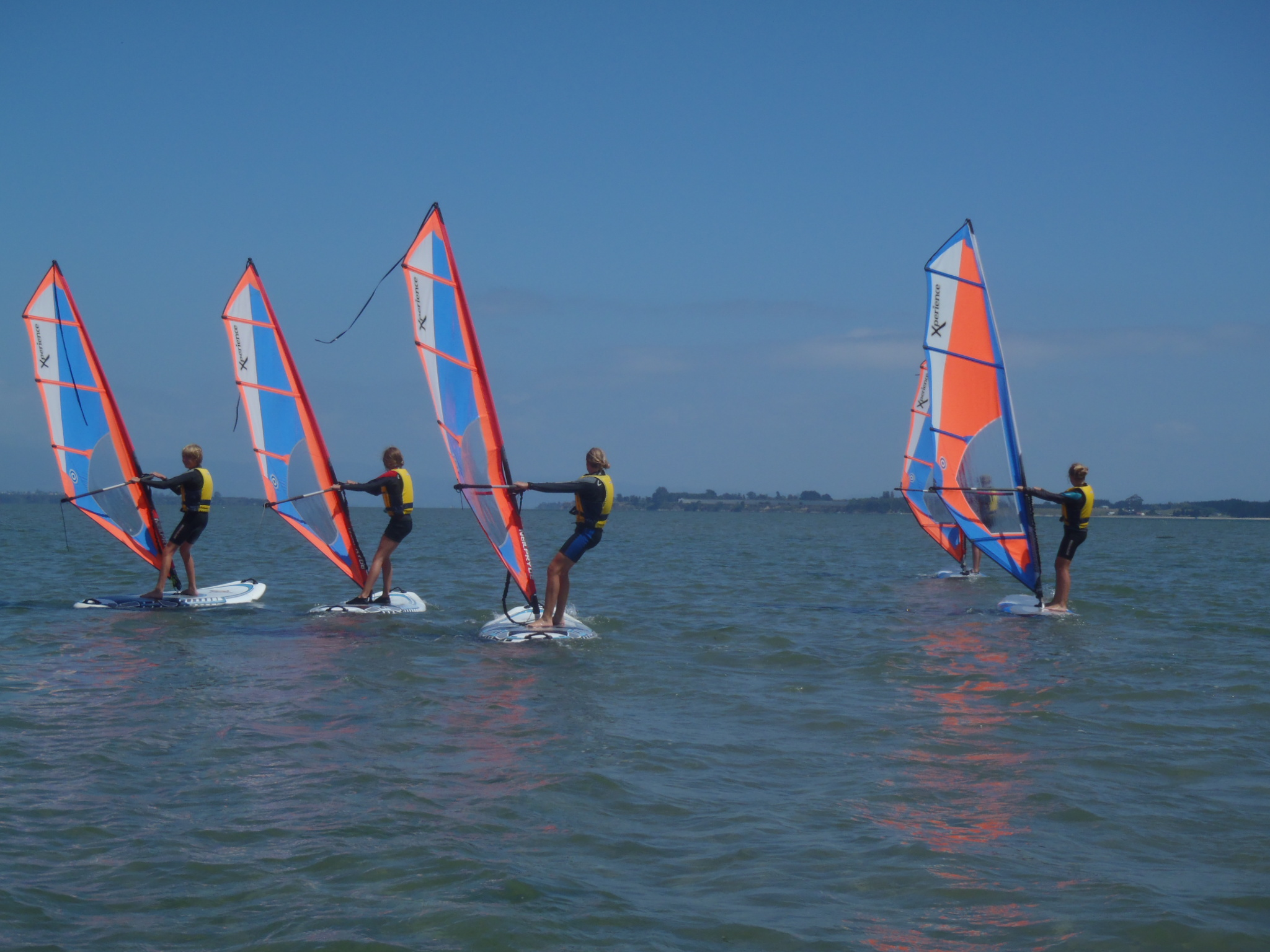 School holidays learn to windsurf.JPG