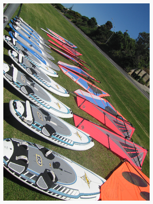 Beginners Windsurf Equipment for Hire