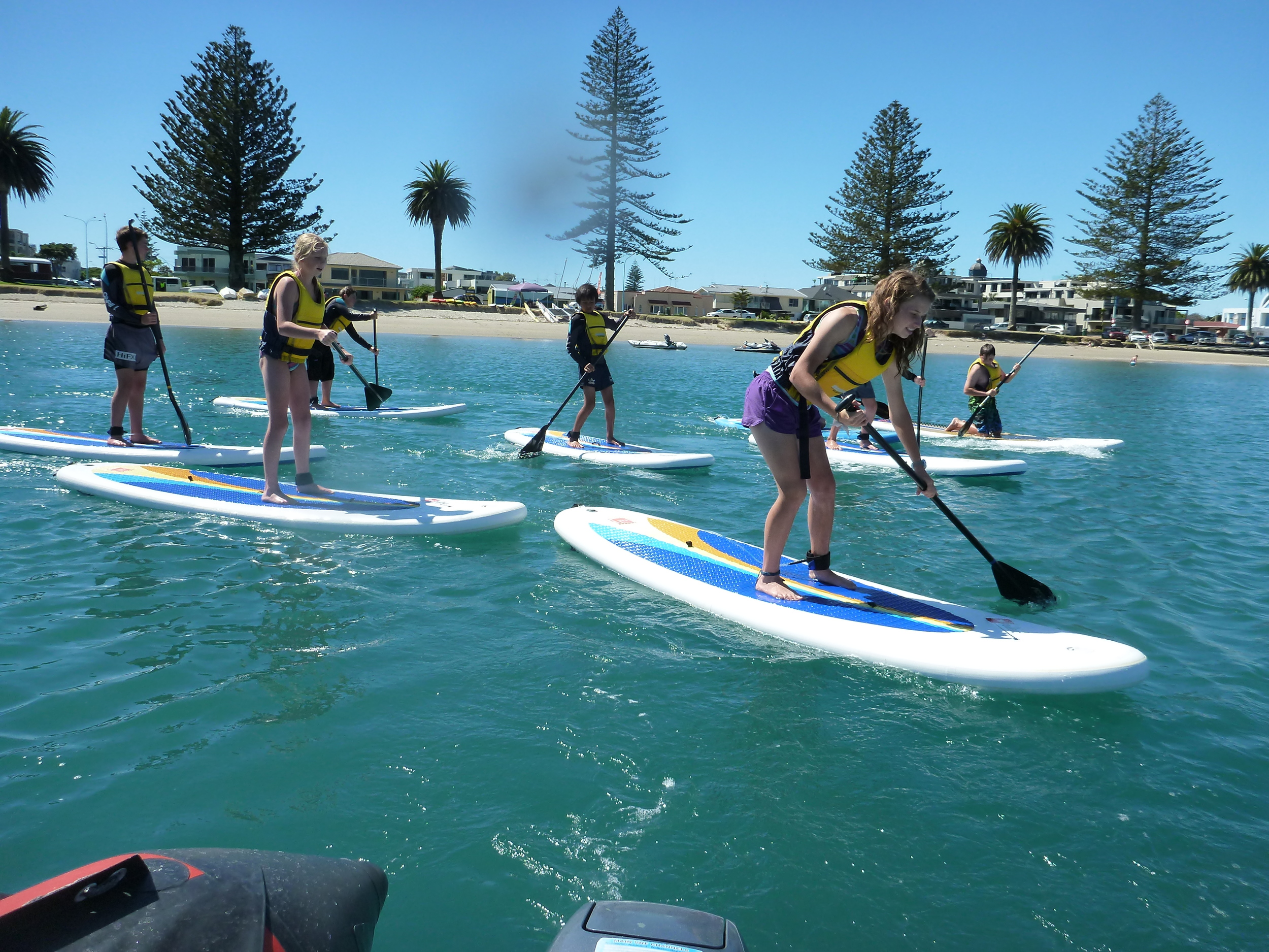 Paddle boarding with Elements Watersports