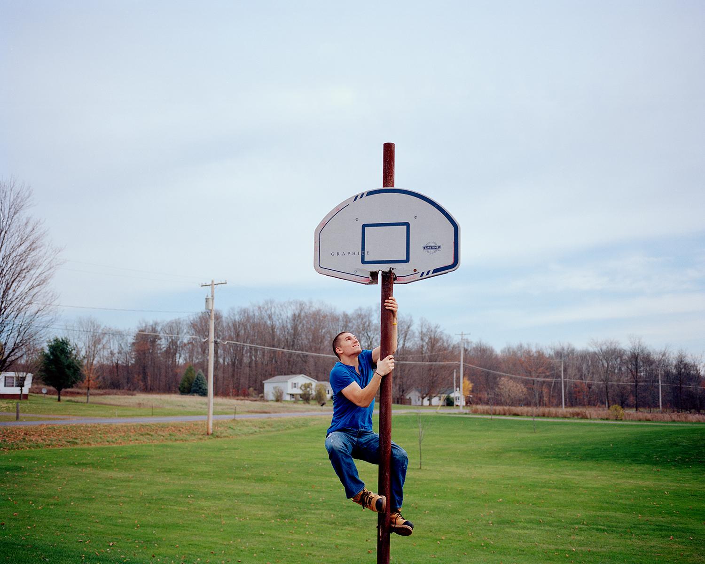 Ben on the Basketball Hoop