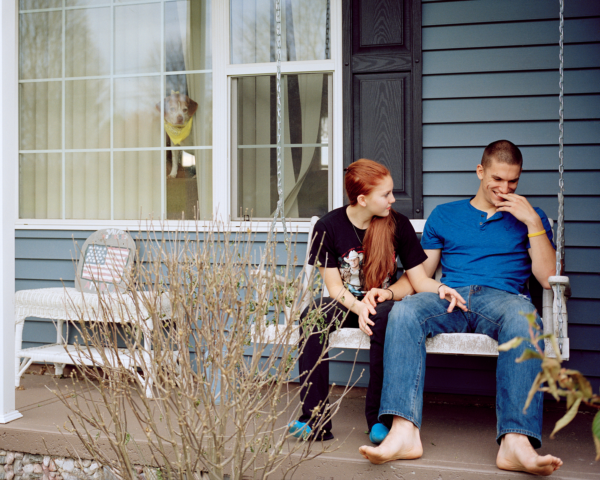Ben & Brittany on the Front Porch