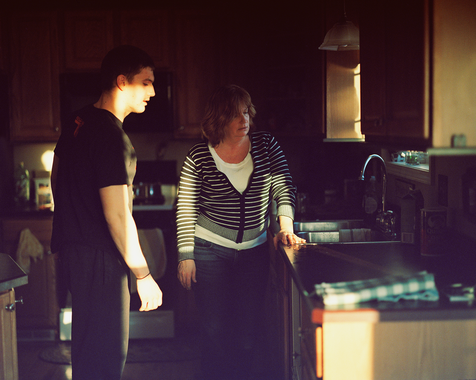 Ben & Mom talking about the dishwasher