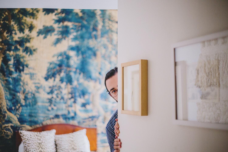 Michael Phillips Moskowitz in his Apartment