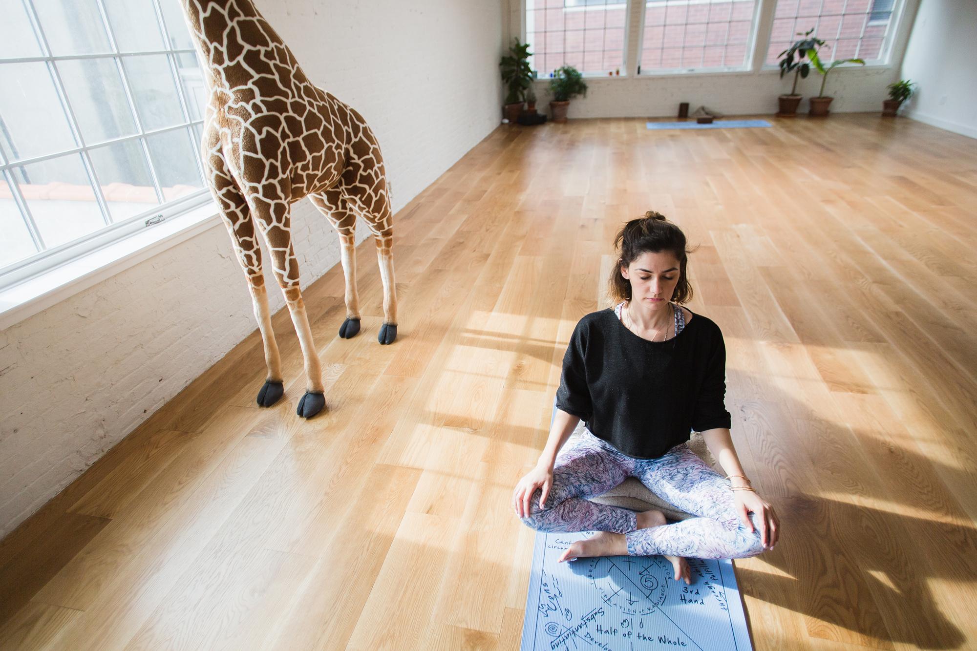 Briana Feigon at Sky Ting Yoga