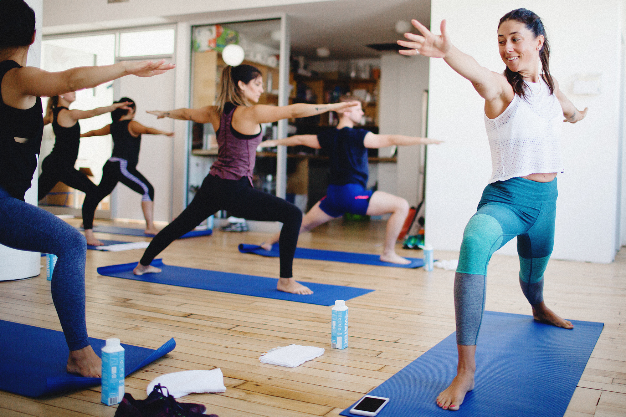 Katelin Sisson of Yoga for Bad People Leading a Workshop at Brand Assembly