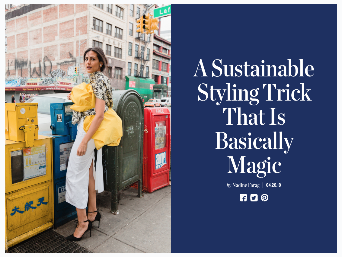 Man Repeller: Sustainable Styling Tricks