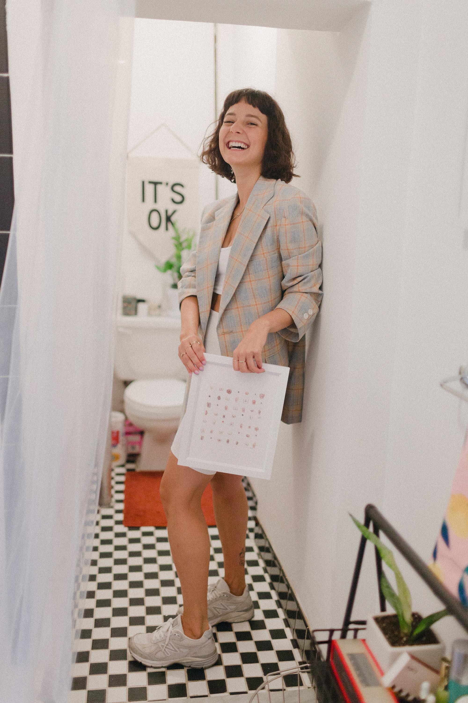 Alyssa in her Bathroom