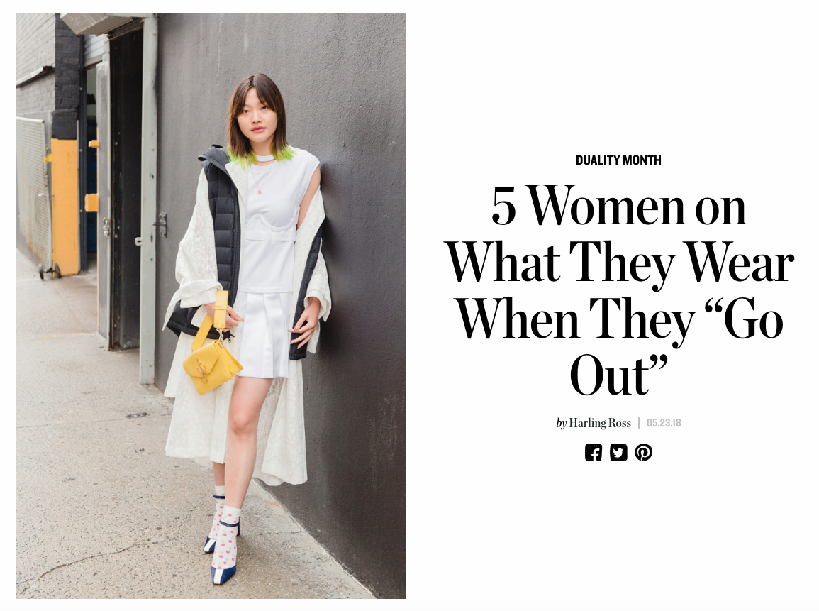 "5 Women on What They Wear When They ""Go Out"""