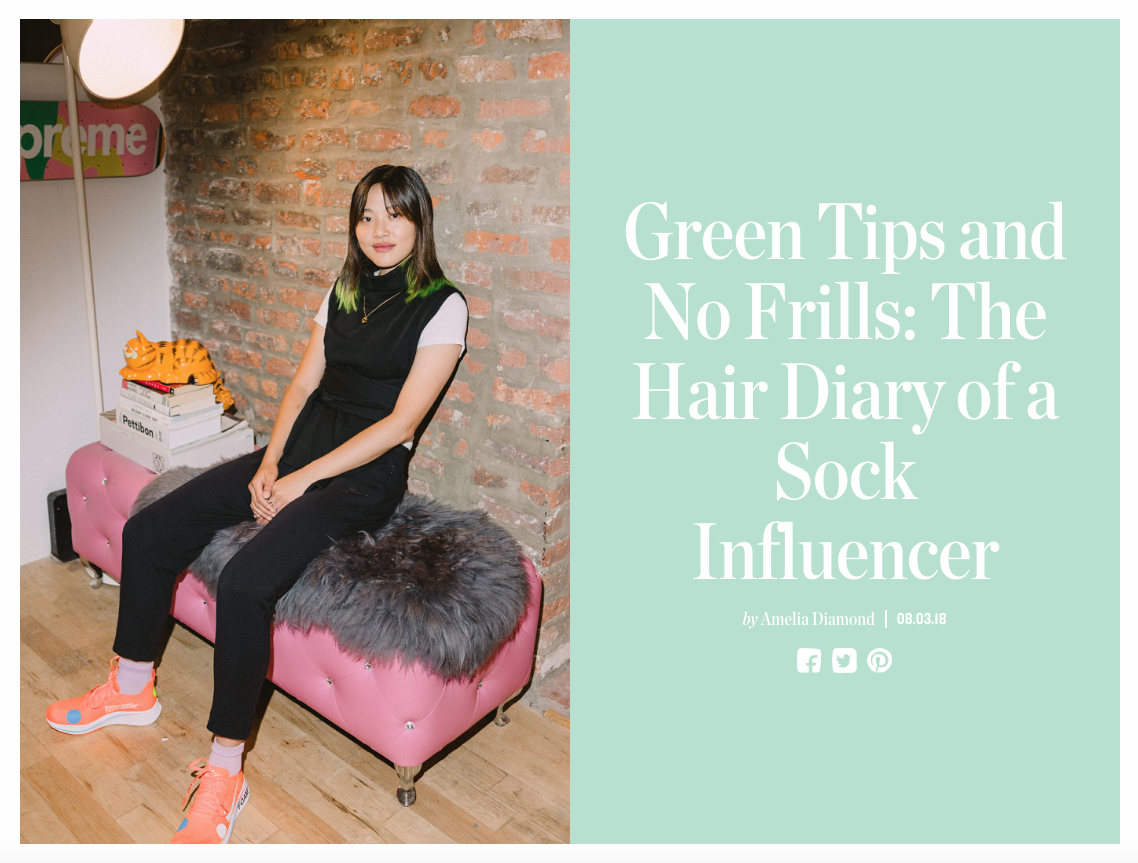 Green Tips and No Frills: The Hair Diary of a Sock Influencer