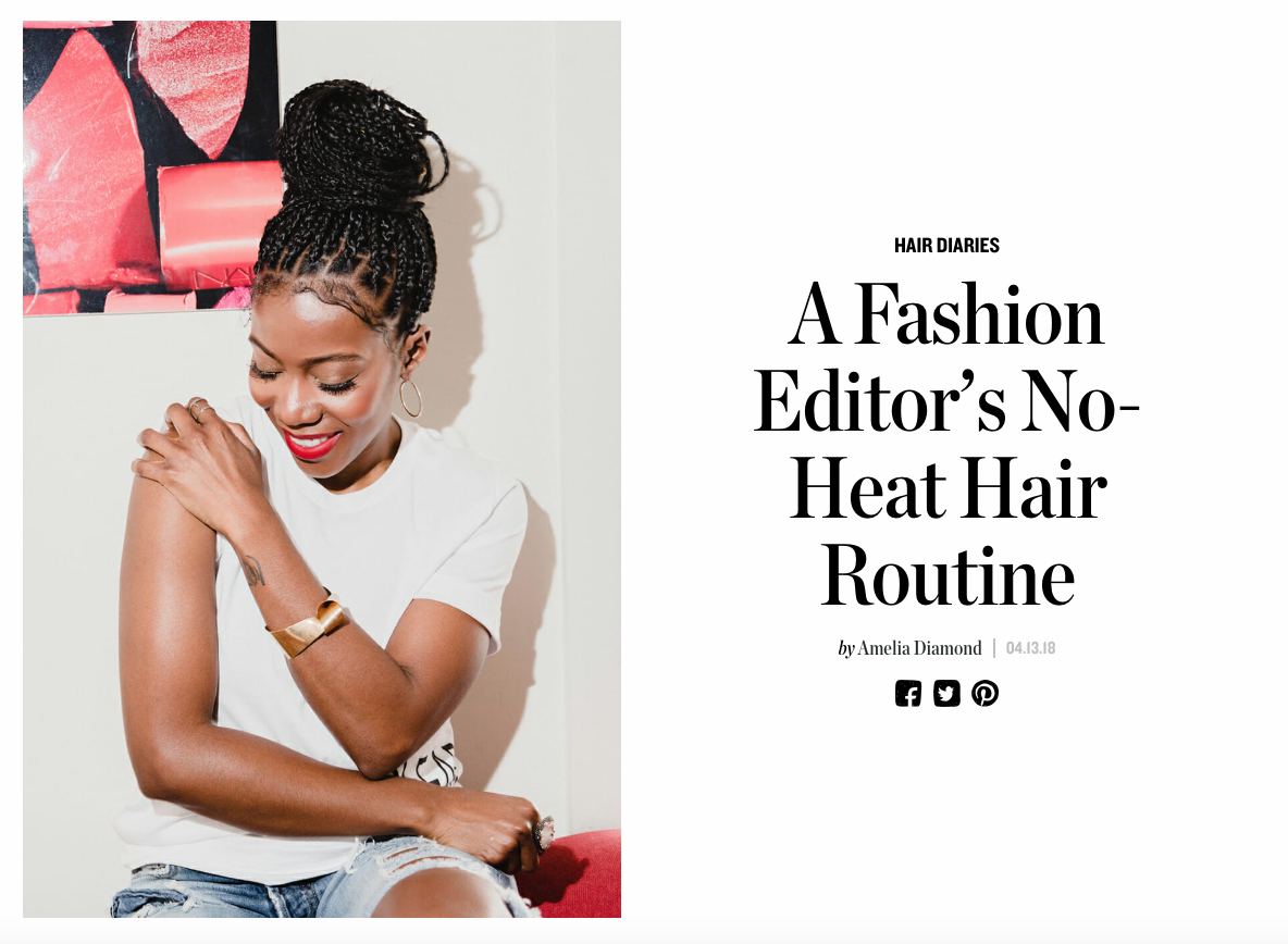 A Fashion Editor's No-Heat Hair Routine