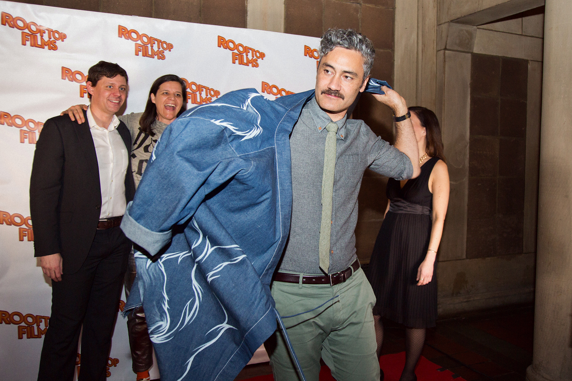Taika Waititi with Dan Nuxoll, Kirsten Johnson, and Genevieve Hsiao-Yung DeLaurier