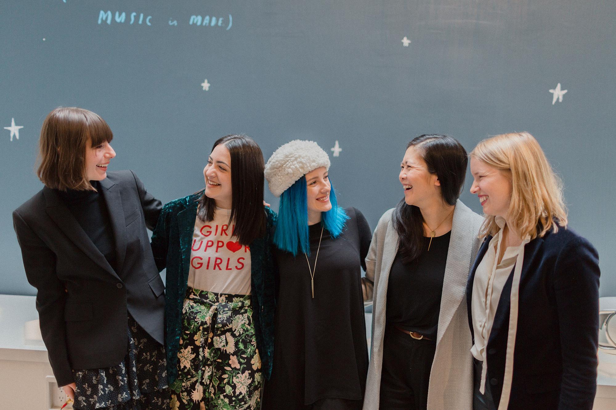 Rachel Schwartzmann, Emma Gray, Dalila Mujagic, Tze Chun, and Melody Serafino